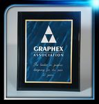 Custom Acrylic Bevelled Blue Marble Plaque Series (8
