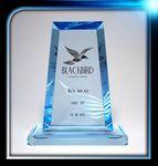 Custom Executive Series Blue Trapezoid Award w/Base (4