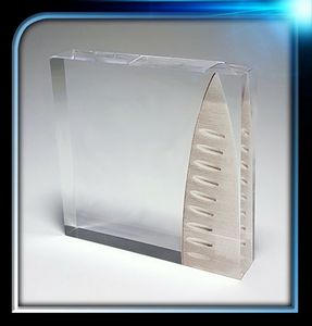 Custom Corporate Series Acrylic Square Paperweight (3 1/4