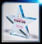 Custom Executive Series Blue Star Paperweight (4 1/2