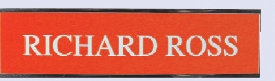Engraved #25 Wall or Desk Sign w/Metal Base (2 Lines / 2x8)