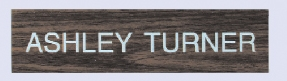 Engraved #25 Wall or Desk Sign w/Metal Base (1 Line / 2x8)