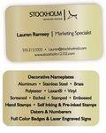 Custom Aluminum Business Cards - GOLD (2 Side Imprint)