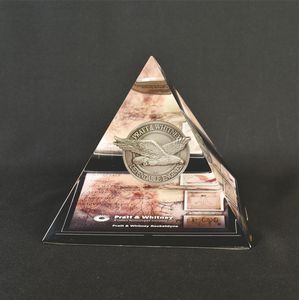 Lucite Pyramid Award - For Embedment Only (3 1/2