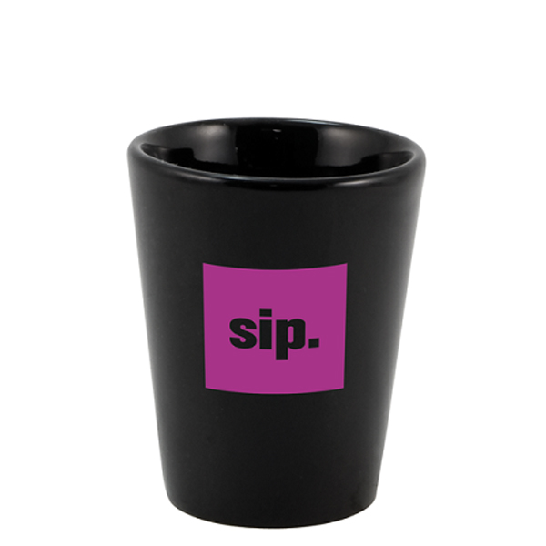 1 1/2 Oz. Black Ceramic Shot Glass