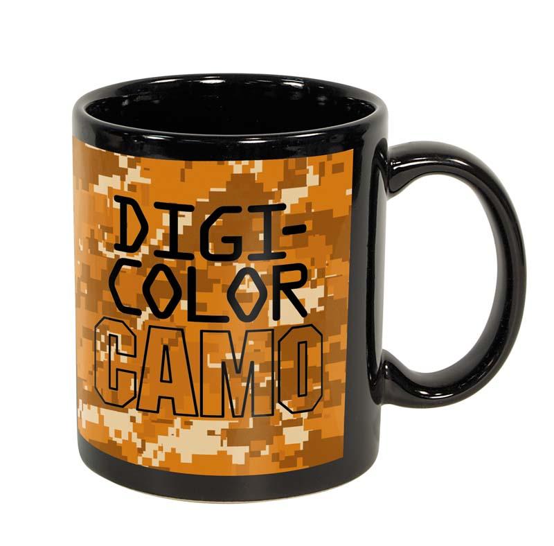 11 Oz. Black Ceramic DigiColor Camo Sublimation Mug