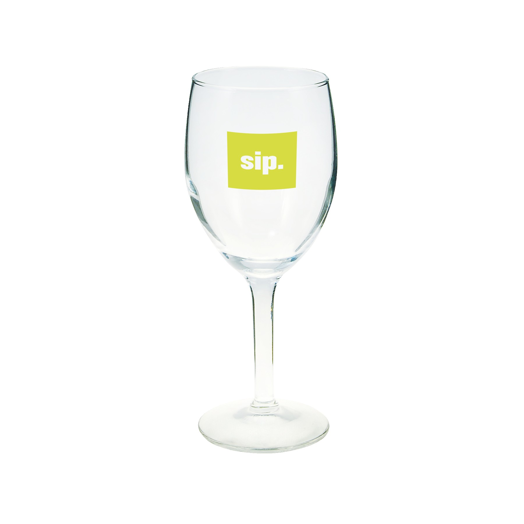8 Oz. Clear Wine Glass