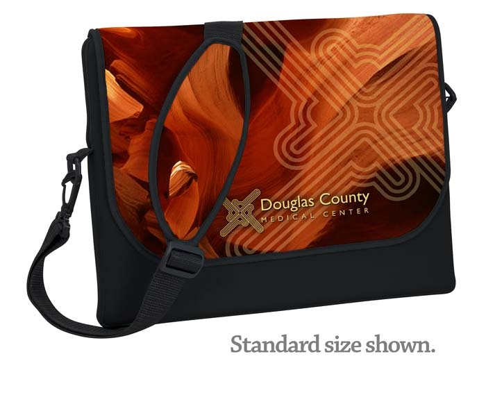Standard Neoprene Laptop Messenger Bag- 4C Process (10 4/5
