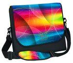 Custom Large Neoprene Laptop Messenger Bag - 4C Process (12 2/5