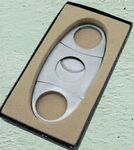 Custom Double Blade Stainless Cigar Cutter