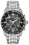 Custom Citizen Eco-Drive Silver & Red Trim Perpetual Chrono A-T Watch
