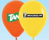 """Helium Latex 9"""" Balloon (1 Side, 2 Color)"""