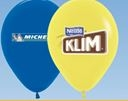 """Helium Latex 9"""" Balloon (1 Side, 3 Color)"""