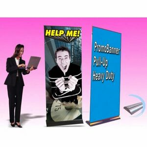 Heavy Duty Pull Up Promo Banner - 1 Sided (31.5x80)