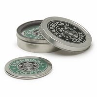 Graphic Pewter Coaster Set (Set of 2)
