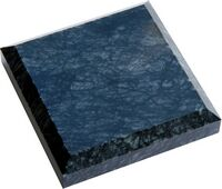 """Black marble square paperweights (3 1/2"""" x 3 1/2"""" x 3/4"""")"""
