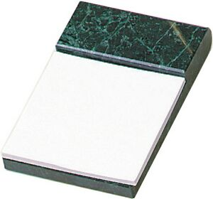 Green Marble Desk Accessories (Note Pad Holder)