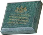 Custom Green Marble Awards & Desk Accessories (Paperweight)