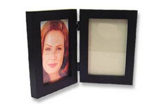 Promotional Product Black Simple Wood 4x6 Picture Frame Double Folding Picture Frame