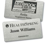 "Rectangular Plastic Name Badge (2.125""x3.375"")"