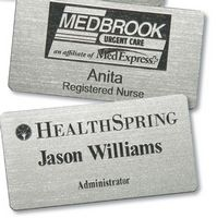"Rectangular Plastic Name Badge (1""x3"")"