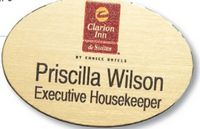 "Colorgrave Plus Oval Name Badge (1.5""x2.385"")"