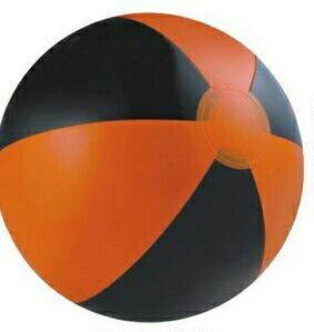 Custom Printed Orange and Black Alternating Color Beach Balls