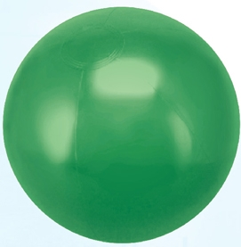 Custom Made Kelly Green Solid Color Beach Balls!