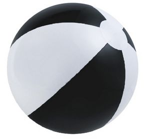 Custom Printed Black and White Alternating Color Beach Balls