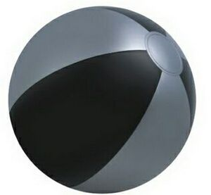 Custom Imprinted Black and Silver Alternating Color Beach Balls!