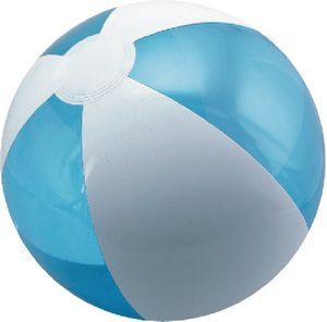Custom Printed Translucent Blue and White Alternating Color Beach Balls