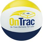 Inflatable Yellow/Navy Blue/White Beach Ball (16