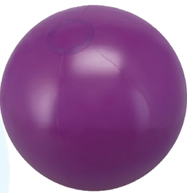 Personalized Purple Solid Color Beach Balls!