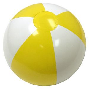 Custom Printed Yellow and White Alternating Color Beach Balls