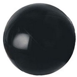 Personalized Black Solid Color Beach Balls!