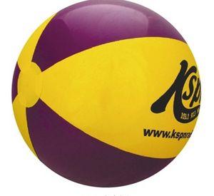 Custom Printed Purple and Yellow Alternating Color Beach Balls