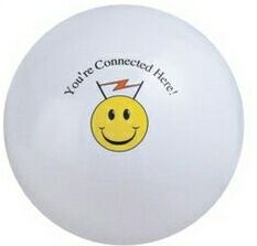 Customized White Solid Color Beach Balls!