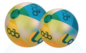 Custom Decorated Translucent Many Colors Alternating Colors Beach Balls!
