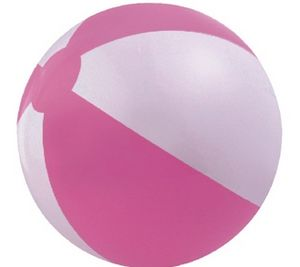 Custom Printed Pink and White Beach Balls