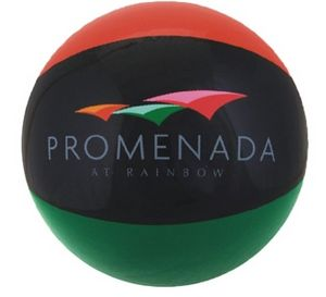 Custom Imprinted Burnt Red Black and Green Alternating Color Beach Balls!