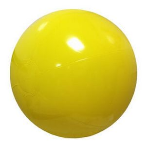 Custom Printed Yellow Solid Color Beach Balls