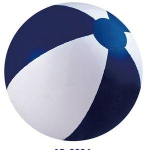 Custom Printed Navy Blue and White Alternating Color Beach Balls