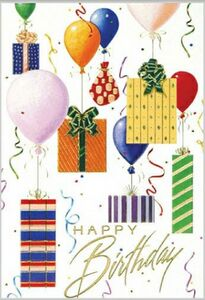 Happy Birthday Card W Balloons Packages