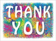Thank You Card w/ Splatter Paint Background - N-3732 - IdeaStage  Promotional Products