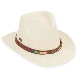 c76c5b55cd4824 Sun 'N' Sand® Safari w/Faux Leather Trim - Shoal Hat - HH1864 - IdeaStage  Promotional Products