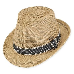 0125d5e07b8df3 Sun 'N' Sand® Elena Rush Straw Fedora Hat - HH2011 - IdeaStage Promotional  Products