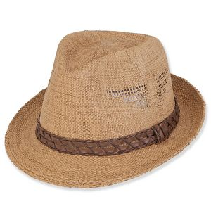 0c0def3b032 Sun  N  Sand® Paper Straw Fedora Hat - HH1648 - IdeaStage Promotional  Products