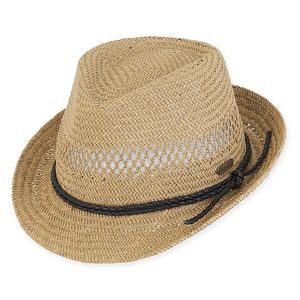 43f3817a56909a Sun 'N' Sand® Ellie Paper Straw Fedora Hat - HH2009 - IdeaStage Promotional  Products