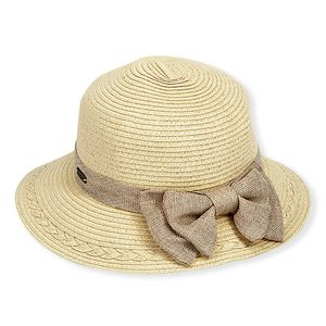 1c8f81597b5b56 Sun 'N' Sand® Gia Paper Braid Hat w/Bow Trim - HH1230 - IdeaStage  Promotional Products