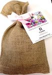 Custom Cherry Blossom Seeds in Burlap Bag